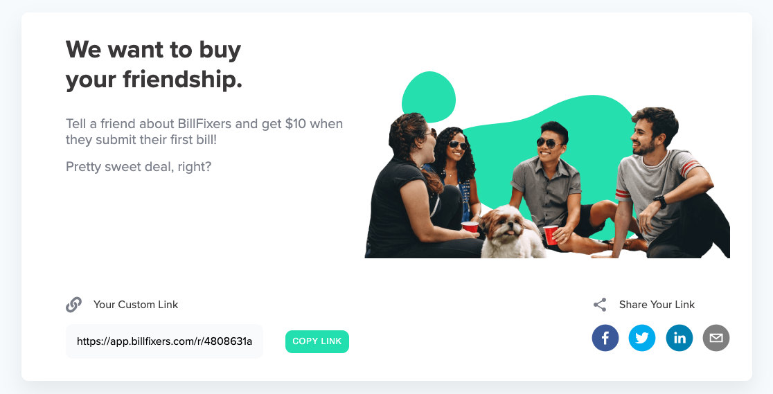 BillFixers Referral Page